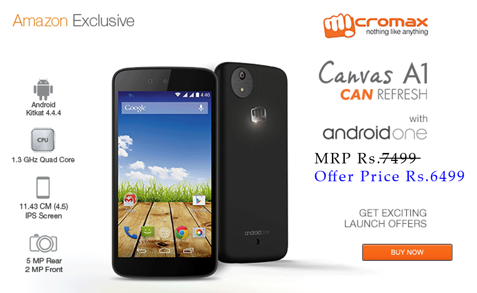 Micromax Canvas A1 with Android One