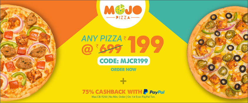 Mojo Pizza - Any Pizza @Rs.199
