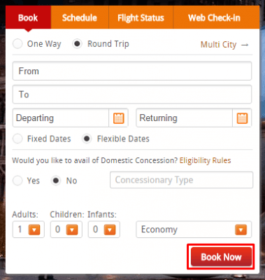 discounts at AirIndia