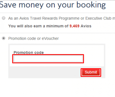 British Airways coupons