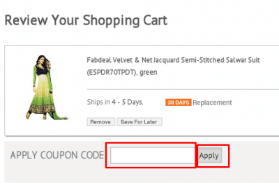 Discount coupons for infibeam